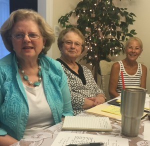 L-R Jane Metts Ripps, Dianne Rouse Ward, Pamela Allen Broussard laugh that Ms Ward taught the photographer in the 3rd grade. KAS photography was approved for Saturday.