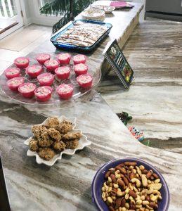 Linda Cuddington Page offered great treats. Yep we indulged.